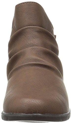 Bounty Street Easy Women's Brown Bootie Matte Ankle Uz6xETwqp