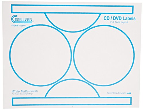 Continental Compulabel White CD/DVD Full Face Labels for ...