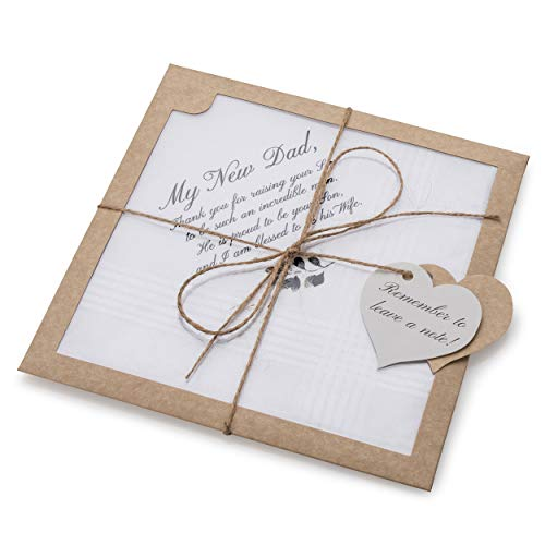 Wedding Gift Handkerchief for Father in Law from Daughter In Law   New Dad Gift