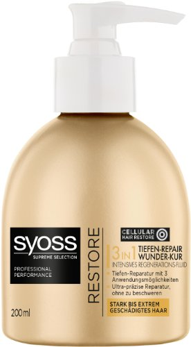 Syoss Supreme Selection 3 in 1 Wunder-Kur Tiefen-Repair Intensives Regenerations-Fluid, 1er Pack (1 x 200 ml)
