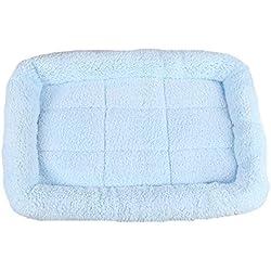 AIgouda 5 Size Large Dog Bed Soft Fleece Warm Cat Beds Multifunction Puppy Cushion Blue XXL
