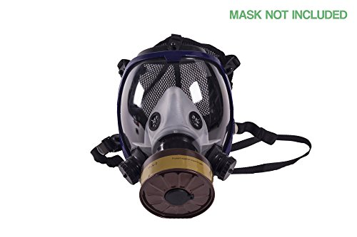 NBC 40mm Respirator Mask Filter - 40 RD Thread Style - Single-Stage Protection Against Organic Gas and Steam 5 Year Warranty by Wild Survival Co (Image #1)