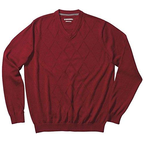 Ashworth Men's Diamond Texture Pima Sweater, Red, X-Large