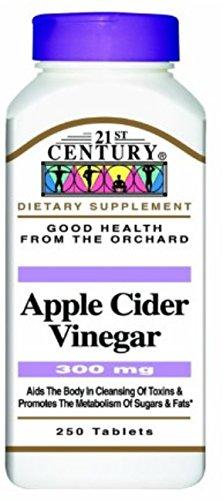 21st Century Apple Cider Vinegar, 300mg, 250 ea (Pack of 8) (21st Century Apple Cider Vinegar 300 Mg)