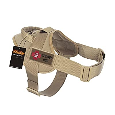 Excellent Elite Spanker Tactical Dog Training Patrol Military K9 Service Dog Harness Nylon Adjustable Velcro Patches with Handle
