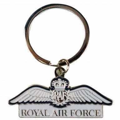 公式Royal Air Force ( RAF ) Wings Crest Keyring B07B7LMLDF