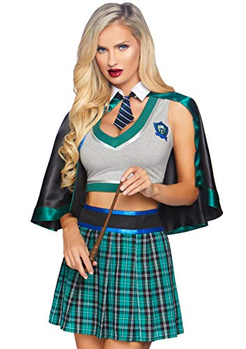 Slytherin Costumes Female - Leg Avenue Women's Sinister Spellcaster Wzard