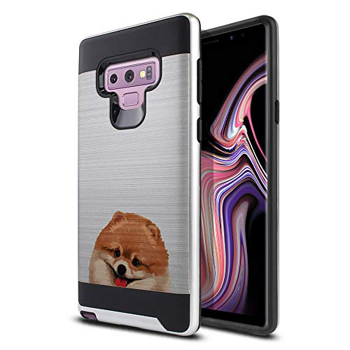 (FINCIBO Case Compatible with Samsung Galaxy Note 9 6.4 inch, Dual Layer Brushed Hybrid Hard Protector Case Cover Anti Shock TPU for Galaxy Note 9 - Fawn)