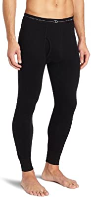 Duofold Men's Mid Weight Wicking Thermal Pant, Bl