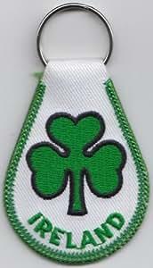 Irlanda Shamrock Bandera Tela LLAVERO - A263