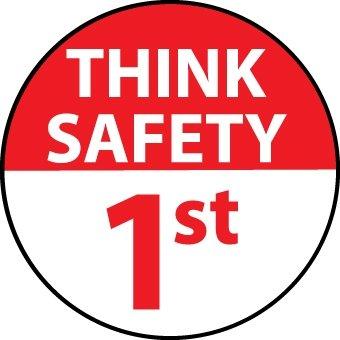NMC HH89, Hard Hat Emblem''Think Safety 1St'' (12 Packs of 25 pcs) by National Marker