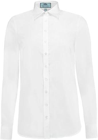 HAWES & CURTIS Camisa de popelina semiajustada para mujer