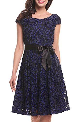 Buy belted black lace dress - 3