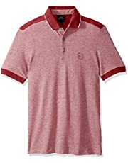 A|X Armani Exchange Men's Short Polo Shirt with Stripes on Sleeve