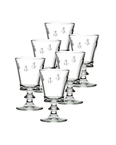 La Rochere Set Of 6, 12-ounce Napoleon Bee Tasting Glasses ()