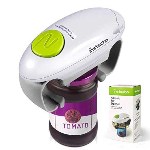 Electric Jar Opener, Lid Opener Remover Restaurant Automatic Jar Opener for Seniors with Arthritis, Weak Hands, Jar Lid Opener for Arthritic Hands, Jar (Best Kitchen Jar Openers)