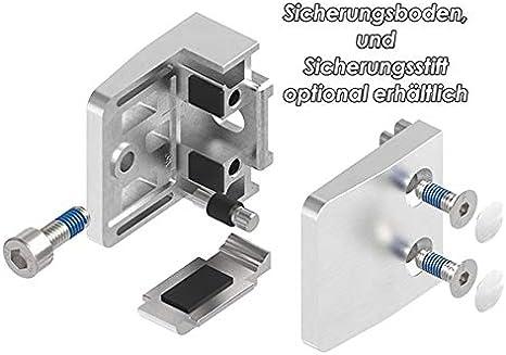 Glasklemme Modell 21 Glas einseitig flacher Anschluss V2A f/ür 10,76mm Glas