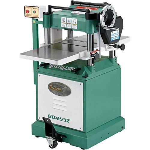 Grizzly G0453Z Planer with Spiral Cutterhead, 15-Inch