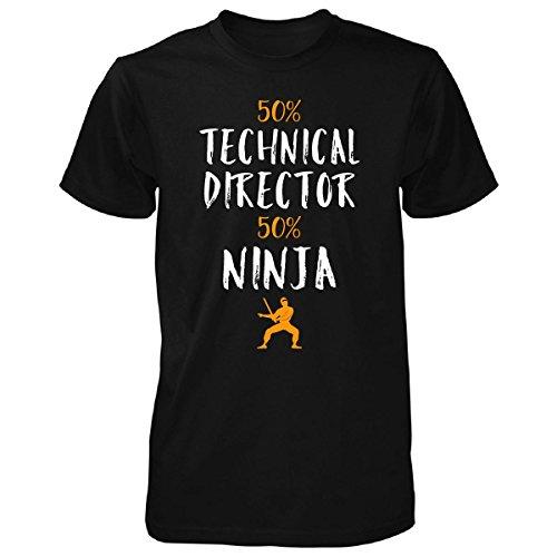 50% Technical Director 50% Ninja Awesome Gift - Unisex Tshirt