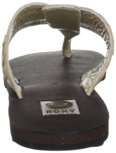 Roxy Noccina XMWSL323 - Chanclas de cuero para mujer marrón - Metalic Champag
