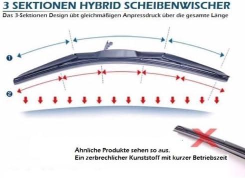 2x 750mm 2 x Scheibenwischergummi Wischergummi Ersatz Gummi geeignet f/ür BOSCH AEROTWIN Scheibenwischer INION