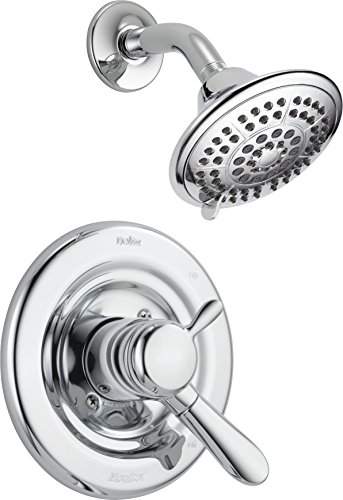 (Delta Faucet Lahara 17 Series Dual-Function Shower Trim Kit with 5-Spray Touch-Clean Shower Head, Chrome T17238 (Valve Not Included))