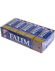 Falim Sockerfri/sockerfritt tuggummi – totalt 100 stycken – paket med 5 x 20 stycken – tandvänlig – certifierad medlem av University of Zurich Dental Friendly Association (1996)