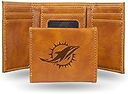 Rico Fan Shop Laser Engraved Trifold Wallet NCAA Georgia Bulldogs Laser Engraved Tri-Fold Wallet, Brown