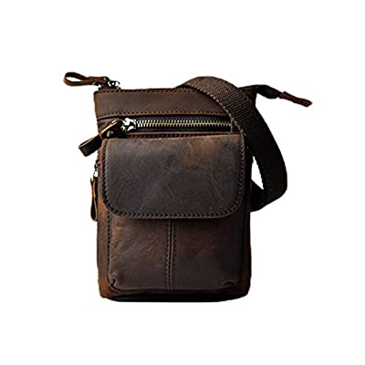 7146694d44 low-cost Genda 2Archer Mens Genuine Leather Small Messenger Shoulder Satchel  Waist Bag