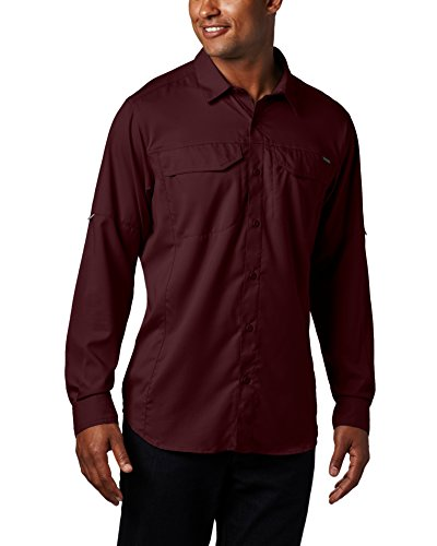 Columbia Mens Silver Ridge Lite Long Sleeve Shirt, X-Large, Elderberry