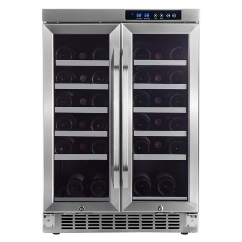 EdgeStar CWR361FD 24 Inch Wide 36 Bottle Built-In Wine Cooler with Dual Cooling (Wine Cabinet Temperature)