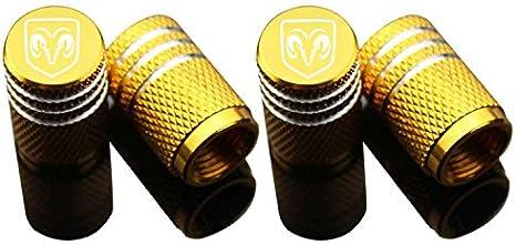 Motorr/äder 4pcs Auto Reifen Luftventilkappen-Auto Rad Reifen Staubschutzkappe Mit Logo Emblem Wasserdicht Staubdicht Universal Fit F/ür Autos SUV LKW Gold,Skoda