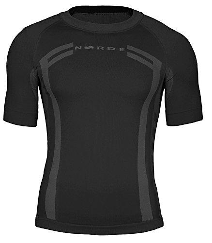 traspirante Norde Canottiera da uomo funzionale maglietta a maniche corte a doppio strato per esterni ciclismo e corsa termo-attiva