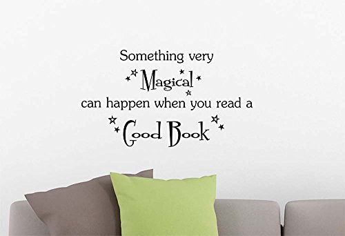 #2 Something very magical can happen when you read a good book playroom sticker nursery vinyl saying lettering wall art inspirational sign wall quote decor by Simple Expressions Arts
