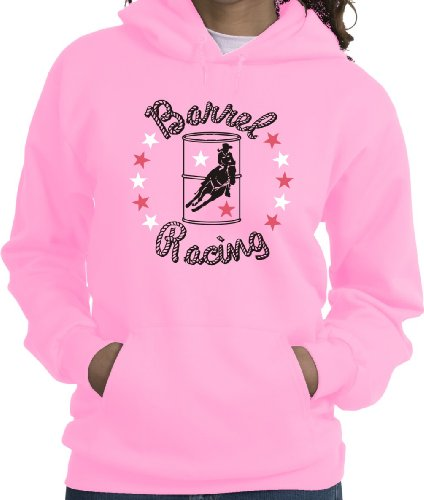 Rider Pink Sweatshirt - Barrel Racer Stars Horse & Rider Pink Hoodie