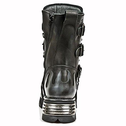 New Rock Metallic Noir Bottes M.591-S2