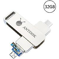 USB Storage Flash Drive AntDisk 3.0 Flash Drive 32GB Memory Stick (Type-C-32GB)