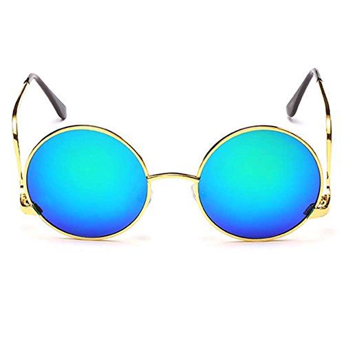 My.Monkey Unisex Fashion Retro Style Round Metal Frame - S Bausch And Sunglasses By Lomb I