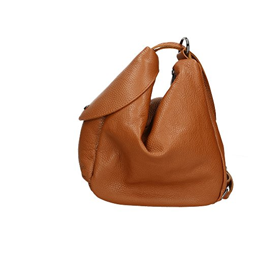 Italy dos véritable en femme Sac Bronzer Aren cuir in Made à Cm 15x25x20 6wSxzcWyE
