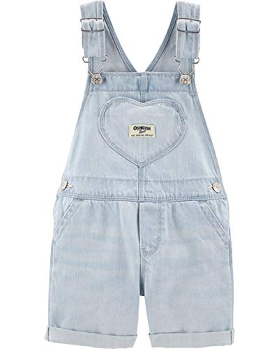 - OshKosh B'Gosh Baby Girls World's Best Overalls, Denim Heart Shortall, 12 Months