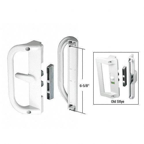 White Surface Mounted Hook Style Sliding Glass Door Handle 6-5/8 in Screw (Mounted Sliding Glass Door Handle)