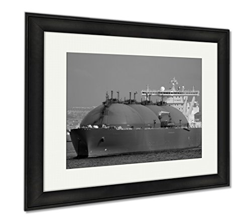 Heavy Crude Oil (Ashley Framed Prints Oil And Gas Industry Liquefied Natural Gas Tanker Lng, Modern Room Accent Piece, Black/White, 34x40 (frame size), Black Frame, AG6311440)