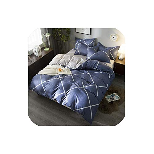 LOVE-JING Green Lemon Winter Bedding Sets Full King Twin Queen King Size 4Pcs Bed Sheet Duvet Cover Set Pillowcase Without Comforter,B15,Queen Cover 200By230,Flat Bed Sheet (Lego Queen Sheet Set)