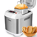 VIVREAL Bread Maker - Bread Machine Programmable Bread Maker with 15- Hour Delay