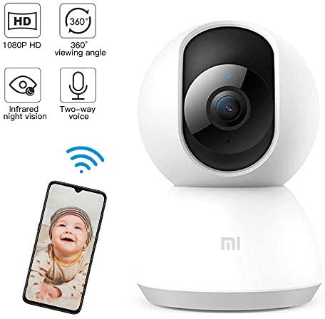 Mi Bady Monitor,1080p HD Home Security IP Camera Wireless WiFi Pet Camera with Sound Motion Detection, Motion Tracking, Night Vision, 2-Way Audio, PTZ Remote View, Work with Alexa and Google Assistant