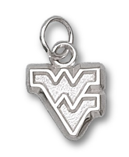 NCAA West Virginia Sterling Silver WV  Charm by LogoArt