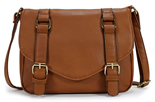 Scarleton Decorative Front Belt Crossbody Bag H172504 - Brown