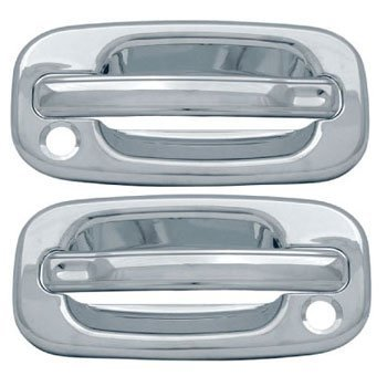 1999-2006 Silverado Sierra Chrome Door Handle Covers 2DR WITH Passenger Side Keyhole  sc 1 st  Amazon.com & Amazon.com: 1999-2006 Silverado Sierra Chrome Door Handle Covers ...