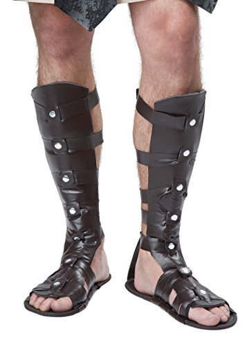 California Costumes Men's Gladiator Sandal, Brown, One (Halloween Gladiator Costume)