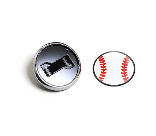 Magnetic Chrome Grill Badge Holder Combo//Universal Fit//No Tools Required//Weather-Proof and Car-Wash Safe GoBadges CKC032 Baseball